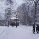 Снег в Саках