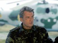 Президент Украины В. Ющенко посетил военную базу в Крыму