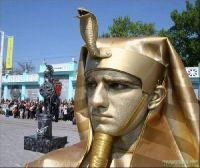 Открытый чемпионат живых статуй в Евпатории