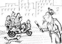 В Саках мопед с тремя «наездниками» врезался в «Газель»