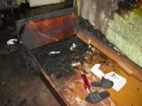 В Саках на пожаре в жилом доме погиб человек