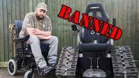Инвалиду из Великобритании запретили ездить на гусеничной коляске