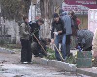 Субботник сакской школы №1, 21 апреля 2011