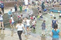 Водяная битва в г. Саки, 21 июля 2011
