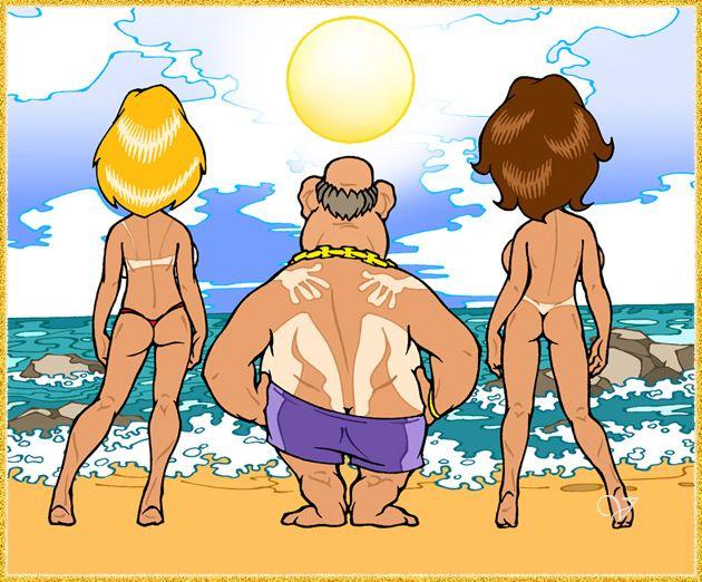 Прикол картинки муж с женой на море