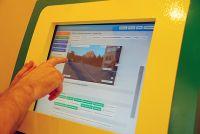 В Евпатории появился информационный киоск для туристов
