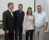 Встреча Василия Шевцова с Наталией Королевской, Андреем Шевченко и Евгением Сусловым, 20 августа 2012