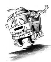 Возле Сак перевернулся рейсовый автобус