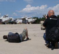 Иностранные фотографы на базе сакской морской авиабригады
