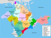 Утверждена схема закрепления районов Крыма