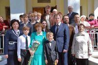Людмиле Дмитриевне Юдиной вручена памятная медаль, 19 апреля 2014