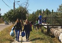 Акция «Чистый берег» в Саках, 22 октября 2014