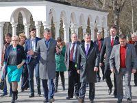 Саки посетила делегация госсовета Крыма, 27 февраля 2015