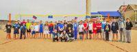 Пляжный волейбол в Саках на базе отдыха «Прибой», 4 мая 2015