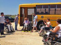 В Саки прибыл автобус с подъемником