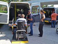 В санаторий им. Бурденко поступили два микроавтобуса с подъемниками