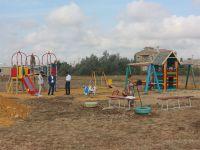 Новая детская площадка в Саках