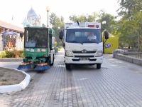 Новые мусороуборочные машины появились в Евпатории!