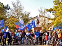 Первый вело-инвапробег в Саках, 1 ноября 2015