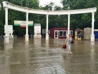 В Саках прошли дожди