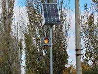 В Саках устанавливают новые светофоры, 30 октября 2016