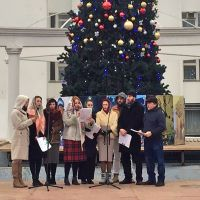 Рождественский концерт на площади Революции