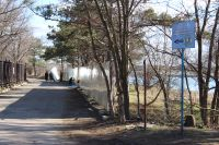 Строительство набережной Сакского лечебного озера