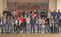 Награждение победителей турнира по мини-футболу