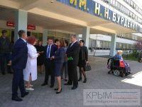 Саки посетил министр труда и социальной защиты России, 12 мая 2017