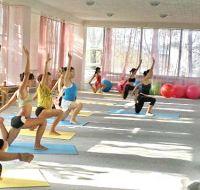 В городе Саки состоялся открытый урок по  детскому фитнесу