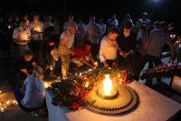 В Саках прошла акция «Свеча памяти»