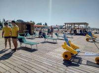 """На """"Прибое"""" заработал пляж для инвалидов"""