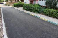 В Саках продолжается ремонт проездов во дворах