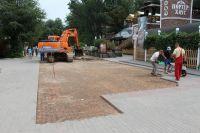 В Саках начались работы на Курортном бульваре