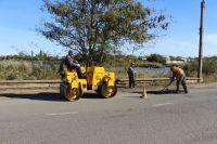 На Михайловском шоссе идет ямочный ремонт