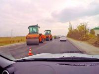Ремонт дороги Саки - Евпатория, 24 октября 2017