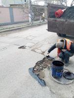 Ямочный ремонт на сакских улицах, 19 февраля 2018