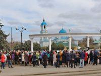 Сакчане почтили память жертв трагедии в Кемерово, 28 марта 2018