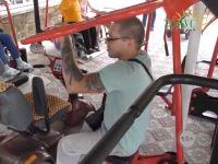 В военном санатории обновили спортплощадку для инвалидов