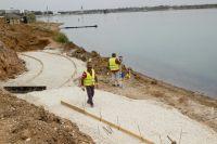 Строительство набережной вдоль лечебного озера