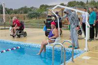 Турнир города Саки по плаванию среди инвалидов