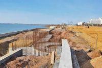 Строительство набережной вдоль соленого озера