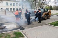 Ямочный ремонт на улице Ленина, 22 апреля 2019