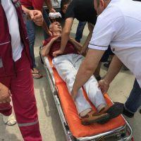 Человек упал с коляски на Курортной