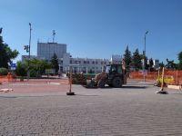 Начались работы на площади Революции