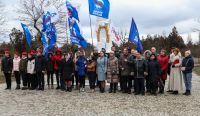 Митинг у памятника Скорбящей матери в Саках