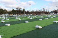 Открытие нового футбольного поля в Саках