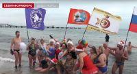 Сакские «моржи» поплавали в Евпатории
