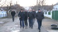 Обход микрорайона у Ж/Д вокзала в Саках