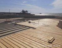Строительство набережной солёного озера